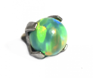 Pinchy's green olive bead attachment